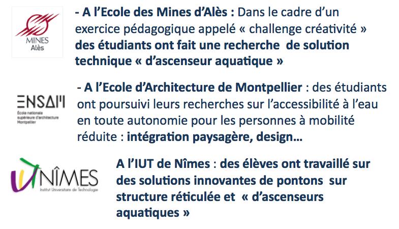 Logo de l'école des mines, de l'école nationale de l'architecture et de l'IUT de Nîmes
