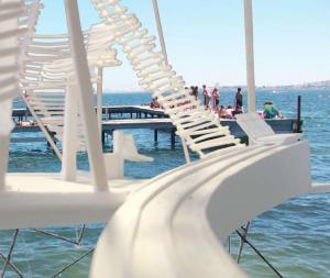 ponton maquette ascenseur à eau transfert fauteuil